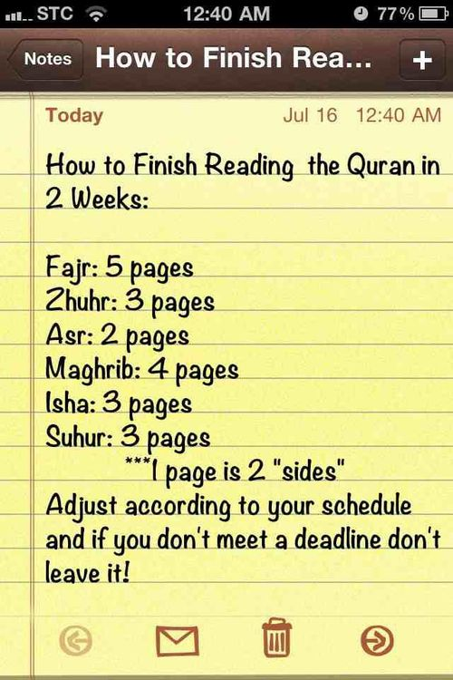 Wanna finish the quran??