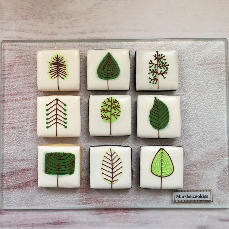 Love the mod trees!  See this Instagram post by @marshe.cookies • 15 likes