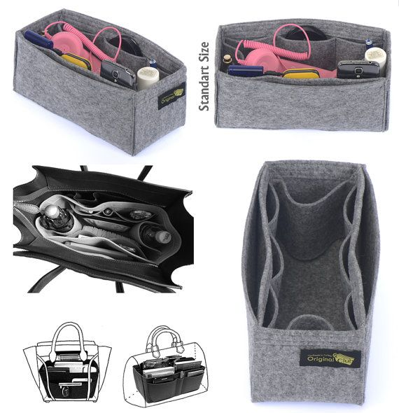 Felt Bag and Purse Organizer with fixed size in von OriginalClub