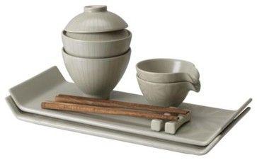 Modern Dinnerware Sets | DINERA DEKAL 10 piece dinnerware set - modern - dinnerware - by IKEA