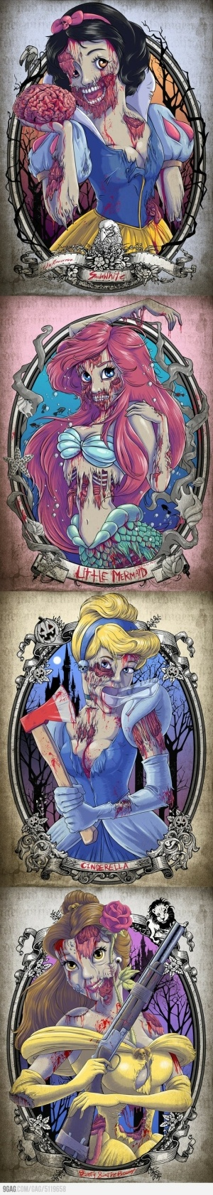 Zombie Princesses by pipperatsea