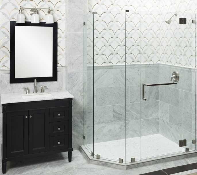 Rooms Bathroom 3 Viviano Marmo Pegasus Bianco Carrara Thassos