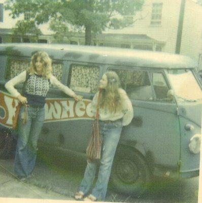 Hippie van, bell bottoms~