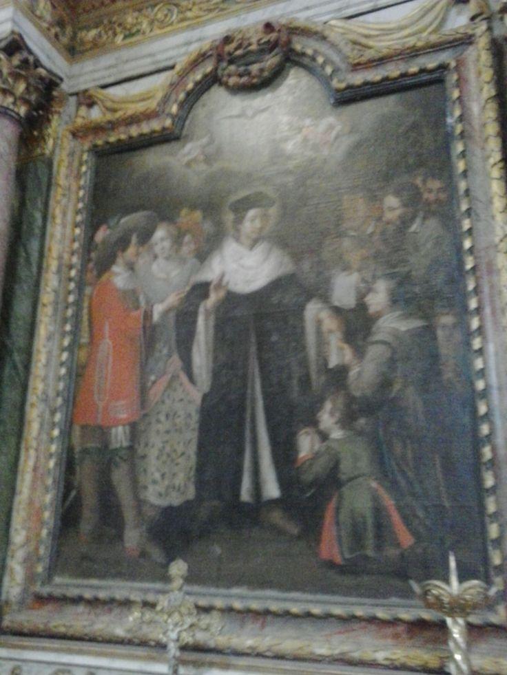 """Eglise de Louannec (22). tableau signé """"Pigeon in. pin 1674"""". Voir aussi la page http://www.culture.gouv.fr/public/mistral/palsri_fr?ACTION=CHERCHERFIELD_1=REFVALUE_1=PM22000549"""