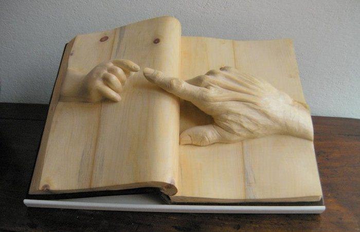 Удивительные миниатюрные книги, трехмерные сюжеты, деревянные скульптуры и несколько интересных фактов о книгах - Ярмарка Мастеров - ручная работа, handmade