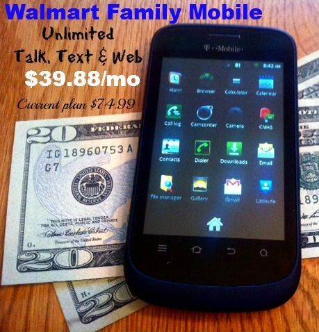 The best wireless plan for a young adult or teen. $39.88/mo at Walmart w/ no contract! My current plan is $75 a month! #FamilyMobileSaves #cbias #shop