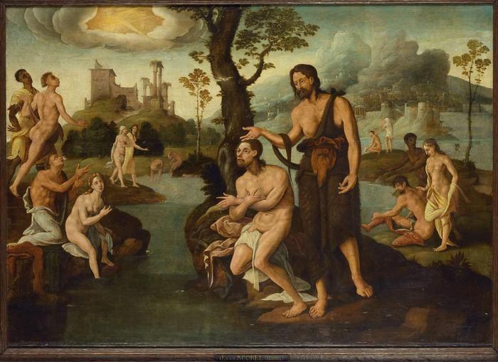 Ян ван Скорел (Jan van Scorel) (1495 - 1562) — Крещение Христа (1540, Rijksmuseum, Amsterdam)