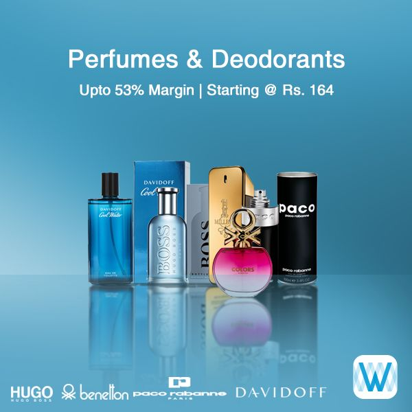 Retailers, choose from a range of perfumes and deodorants and buy in bulk on #Wydr Wholesale E-Commerce. Great Margins! SuperFast Delivery! Visit Wydr now!