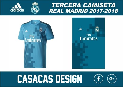 Tercera CamIseta Real Madrid 2018 2019 VECTOR  4a3369efdf3c9