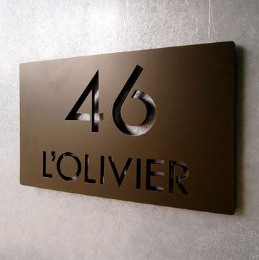 Address Plaques - modern - House Numbers - Indianapolis - Moda Industria