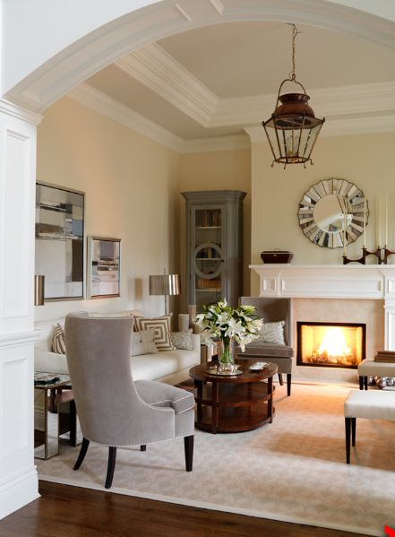 sophisticated living room. Vanessa Lazaroff Cloverdale Paint in Golden Pastel sophisticated living room  design with marble fireplace lantern Best 25 Sophisticated rooms ideas on Pinterest Living
