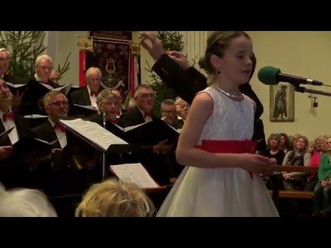 """Amira singing """"Ave Maria"""" (Gounod / Bach) in duet with Gissur Páll Gissurarson, during her Christmas Concert in Iceland in December 2015. http://amira-online..."""