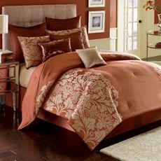 nicole miller modern opulence california king comforter set bed bath u0026 beyond crimson orange