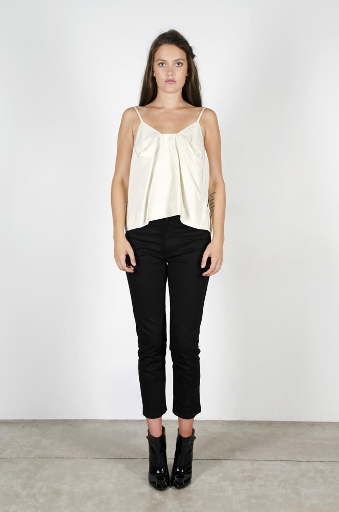Liberty Top - Creme  Hometown Jeans - Black