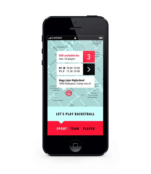Team Player App for finding nearby friends to play a variety of sports with | Creative User Interface Design #UI