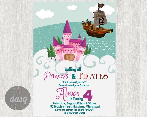 87 best pirate and princess party for twins images on pinterest instant download princess pirate party princess invitations princess party pirate princess party custom printable diy invitation filmwisefo Choice Image