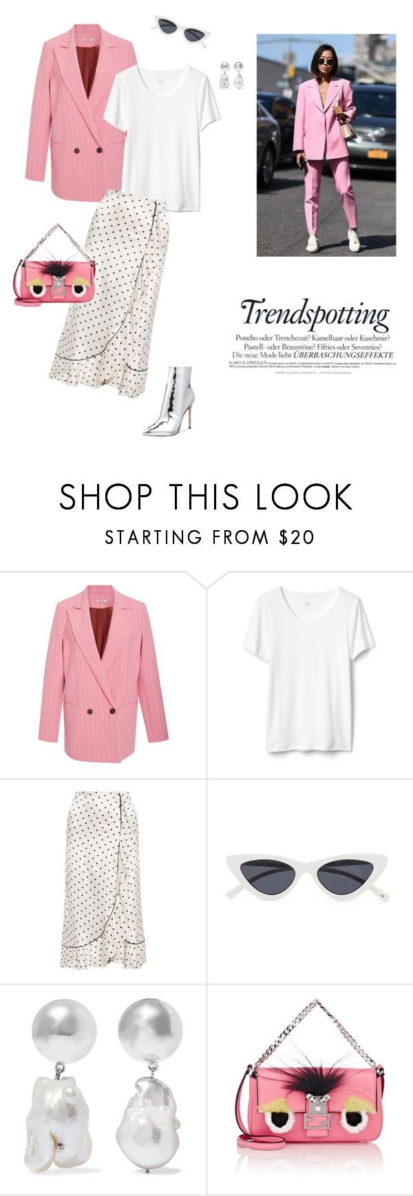 """14/02"" by dorey on Polyvore featuring Ganni, Le Specs, Sophie Buhai, Fendi and ALDO"