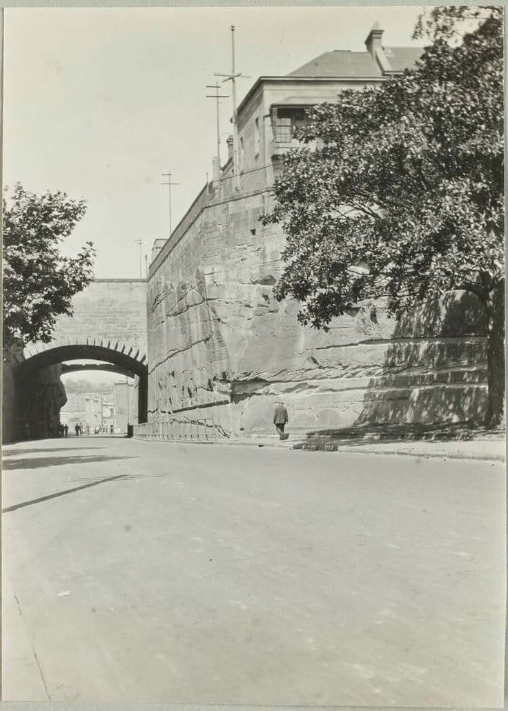 Argyle Cut from Argyle Place,The Rocks,Sydney in 1924.