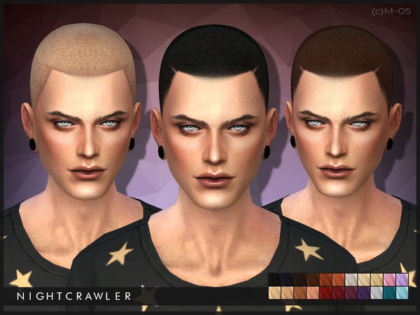 Hair 05 (c)AM by Nightcrawler at TSR via Sims 4 Updates