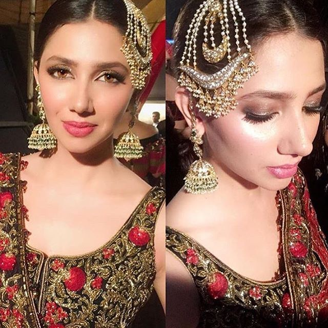 How stunning does #mahirakhan look - do you think minimal desi bridal makeup will trend next year? Let us know in the comments below #desibeautyblog