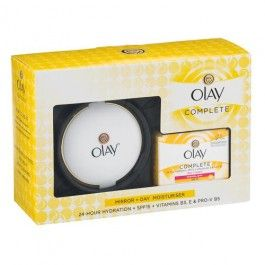 Olay Complete Gift Set comes with Olay's Complete Care 3in1 Day Cream with SPF15 and an Olay Compact Mirror! Olay Complete Care 3in1 Day Cream with SPF15 gives your normal to dry skin everything it needs most during the day in a creamy texture formula: a broad spectrum UVA/UVB protection SPF15 gently protects the surface of your skin from daily incidental UV exposure; nourishing vitamins (B3, E and Pro-V B5) pamper your skin and strengthen its natural moisture barrier and the 24-hour…