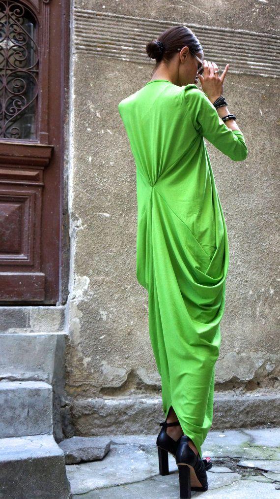 Maxi Dress / Asymmetric Kaftan / Long Dress / Party by Aakasha, $79.00