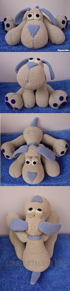 *Игрушка крючком «Собака» - Вязание для детей - Страна Мам