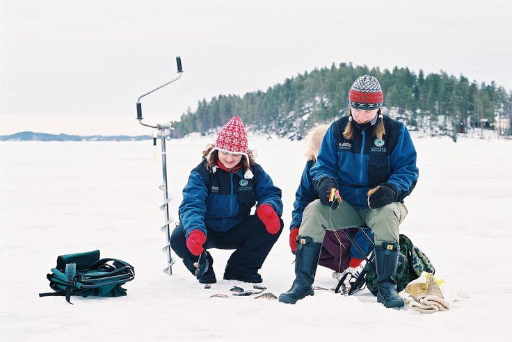 Winter fishing on Lake Saimaa - Hotel & Spa Resort Järvisydän