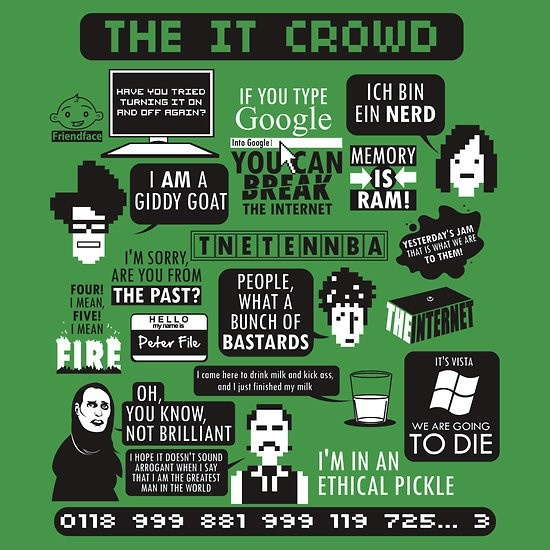 absolutely love The IT Crowd!
