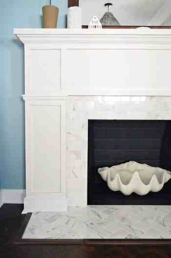 Herringbone Tile Fireplace House Ideas Pinterest