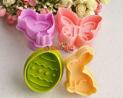 ZNU Easter Plunger cake Cutters decorating…