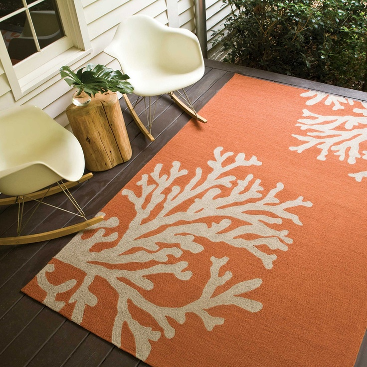 Fab.com | Branches 5x7u00276 Orange/Gray Indoor/outdoor Rug