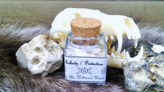 Magical salt Protection Hedge Witchcraft Magic by TheWildwoodWitch