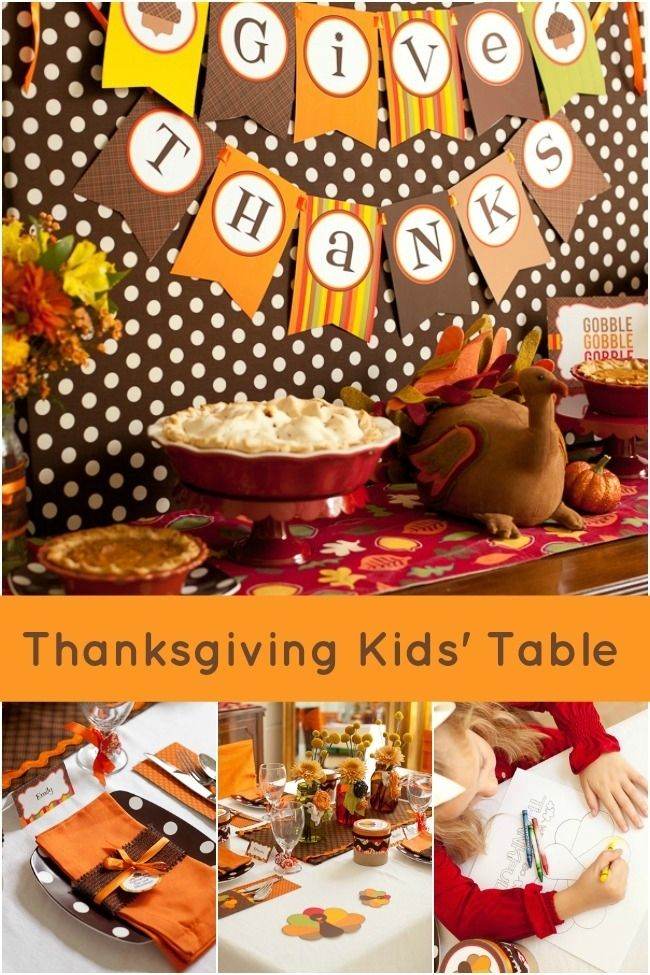 The Perfect Thanksgiving Kid 39 S Table Decorations
