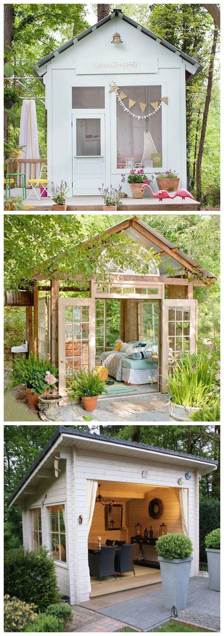 "Incredible Wood Backyard Pavilion Design Ideas Outdoor 1: Stylish ""She Sheds""-8 Incredible Backyard Ideas"