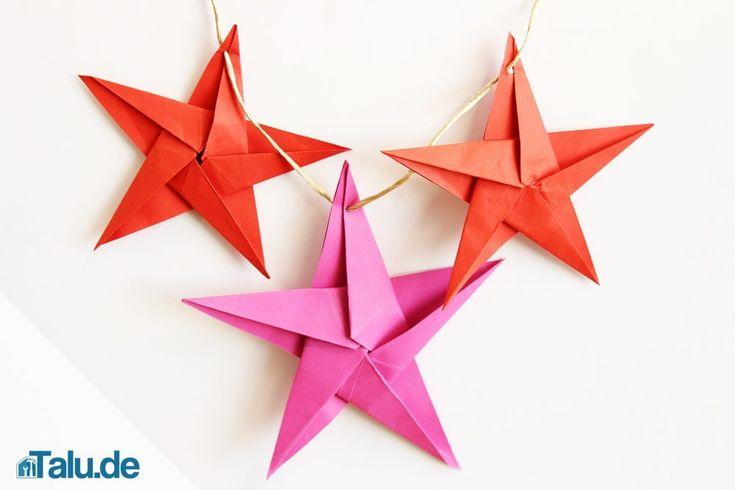 25+ Einzigartige Origami Stern Anleitung Ideen Auf