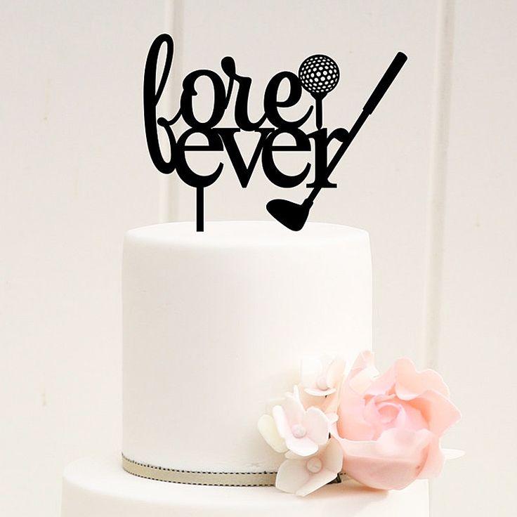 Golf Cake Topper (Golf Club & Ball /Sport Theme /Goft Lover /Love Ever)