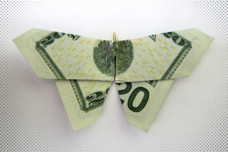 MONEY ORIGAMI BUTTERFLY Tutorial - YouTube | 491x736