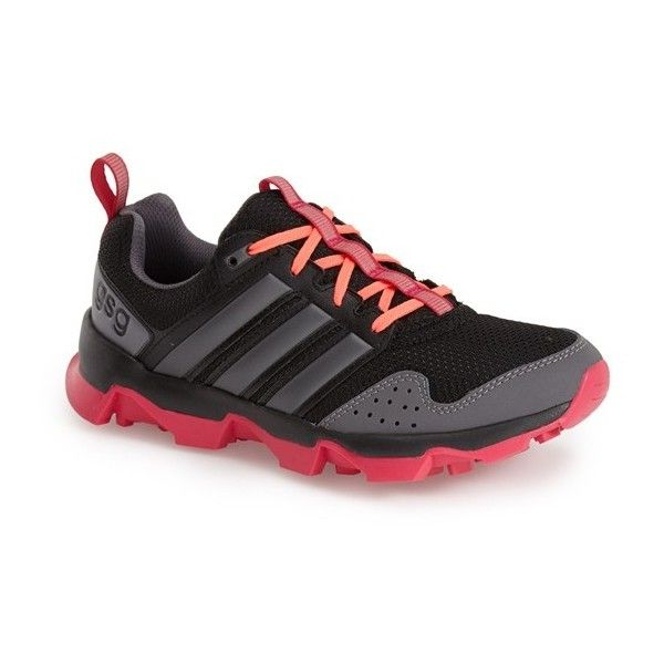 adidas 'GSG9' Trail Running Shoe (€73) ❤ liked on Polyvore featuring shoes, athletic shoes, lightweight running shoes, synthetic shoes, light weight shoes, lightweight shoes and running shoes