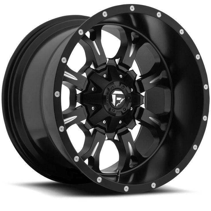 D517 - Krank Deep Black & Milled - Fuel Off-Road Wheels