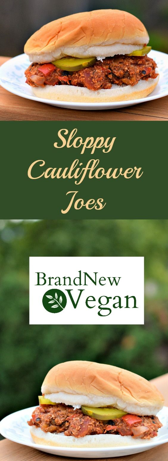 Picky eaters? Sneak in one of these insanely yummy Sloppy Cauliflower Joes - they'll never know they're eating veggies!