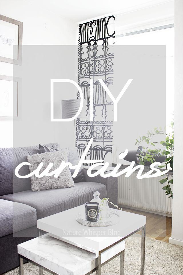 Home Decor: Easy DIY Curtains | NATURE WHISPER