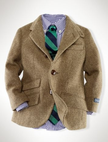 Tweed for Kids courtesy of Ralph Lauren. My little guy would totally rock this.