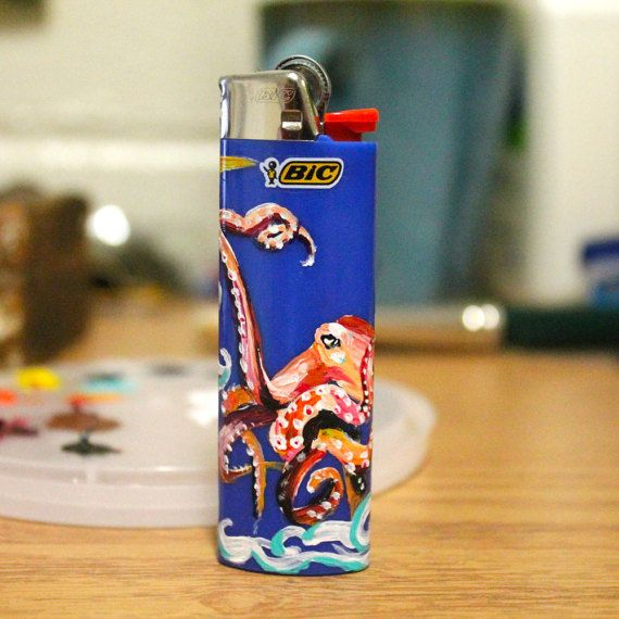 Custom BIC lighter by Flarelite on Etsy