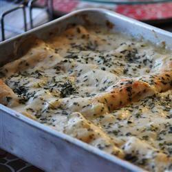 White Cheese Chicken Lasagna Allrecipes.com