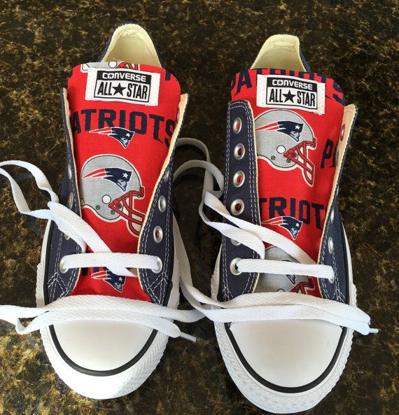New England Patriots Football Print Converse Chucks Taylor