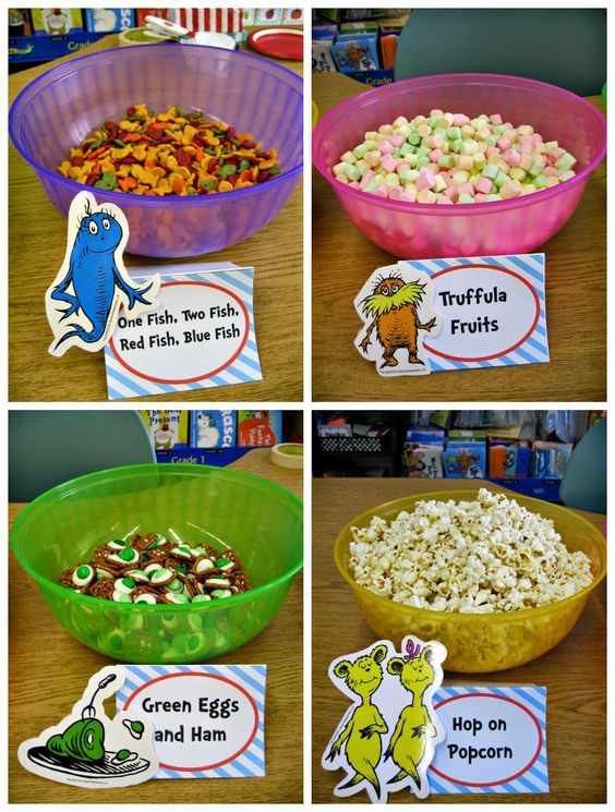 Check out these food ideas for Dr. Seuss week! Awesome!!