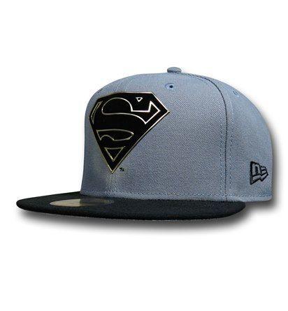 Images of Superman Symbol Flock Cut 59Fifty Cap