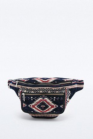 Ecote Carpet Tapestry Bumbag in Blue and Red - Urban Outfitters