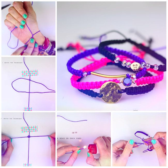 DIY for summer #diy #branclete #pink #jewlery #ideas #stepbystep #handmade